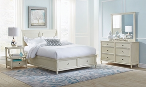 Avignon Ivory Full Storage Bedroom