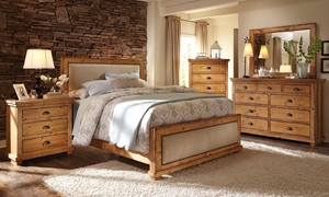 Willow Pine & Linen Rustic King Bedroom