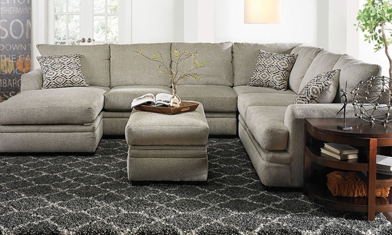 Picture of Cornell Platinum Sectional with Chaise