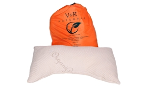 Curved Natural Latex & Kapok Blend Pillow