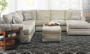 Cornell Platinum Sectional with Chaise