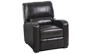 Leather Curved Track Arm Pushback Recliner