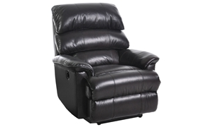 Leather Triple Back Power Recliner with USB Charging