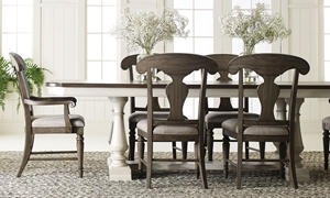 Brookhaven 7-Piece Farmhouse Trestle Dining Set