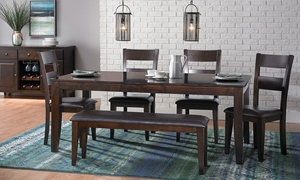 Dark Mango Solid Wood 6-Piece Dining Set