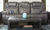 Rebel Power Reclining Sofa with Dual Power Headrests, Drop-down Table and Pop-up Charging Station