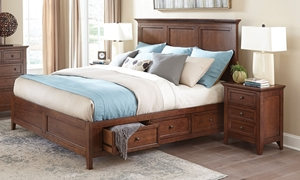 San Mateo Cherry Arts & Crafts Queen Storage Bed