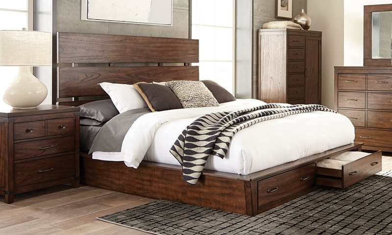 Scott Living Artesia King Platform Storage Bed
