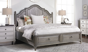 Brookhaven Dark Elm Paneled Queen Storage Bed