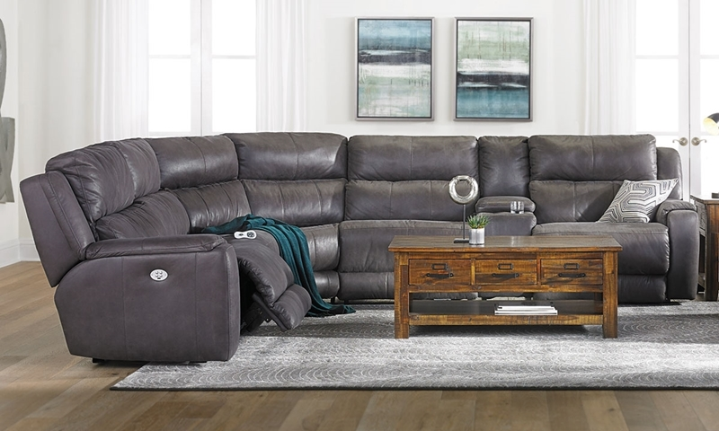 Infinite Motion Power Reclining Storage Sectional