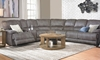 Tucson Power Reclining Queen Sleeper Storage Sectional in Living Room