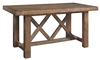Oozlefinch Collection Annabel Blonde Solid Wood Counter Height Table