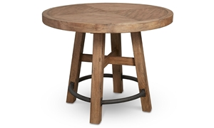 Oozlefinch Lady in White 46-inch Blonde Wood Round Bar Height Table