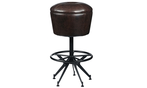 Oozlefinch Old Comfort Swivel Faux Leather Bar Stool with sturdy base