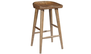 Oozlefinch Taps Blonde Wood Saddle Style Bar Stool