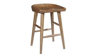 Oozlefinch Taps Blonde Wood Saddle Style Counter Height Stool