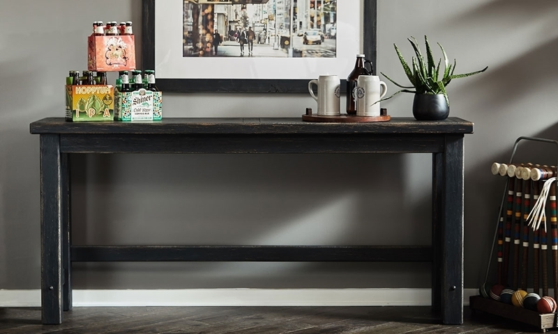 Oozlefinch Stout Bar Rustic 78-inch Tasting Table or Dining Room Console