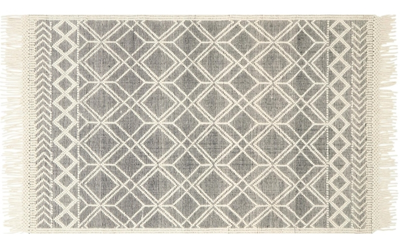 Magnolia Home Holloway Hand Woven Black & Ivory 5X8 Rug