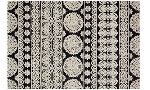 Magnolia Home Lotus Black & Silver 5X8 Rug