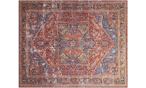 Magnolia Home Lucca Red & Blue 5X8 Rug