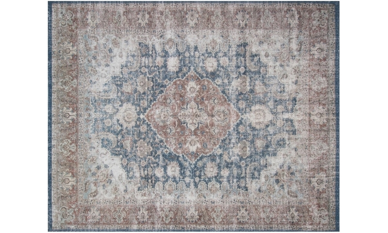 Magnolia Home Lucca Denim & Terracotta 5X8 Rug