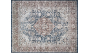Magnolia Home Lucca denim & Terracotta 8X10 Rug