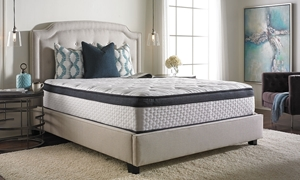"Consumer Digest Audrey 13"" Euro Top King-Size Mattress in Bedroom"