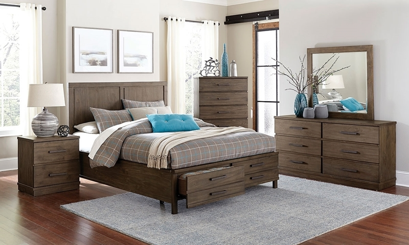 Beckham Contemporary Queen Storage Bedroom Set | Haynes ...