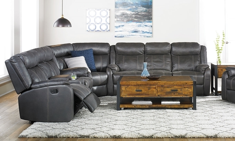 Cache Reclining Storage Sectional Charcoal Haynes Furniture