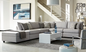 Scott Living Charlotte Modular Sectional & Ottoman