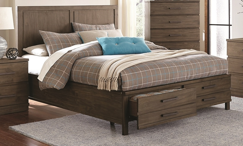 Beckham Rustic Contemporary King Storage Bed