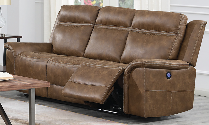 Madera 91-Inch Power Reclining Sofa with Power Headrest & USB ...