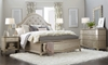 A.R.T. Starlite Glam Upholstered  Queen Storage Bedroom Set with Queen Storage Bed, Mirror and 9-drawer dresser in neutral metallic finish - Full Bedroom Shot