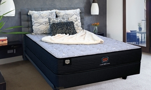"HD Super Duty Patriot Innerspring 11"" Queen Mattress in Bedroom"