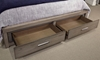 Aspenhome Modern Loft King Bed with USB Charging Ports and Two Spacious Storage Drawers