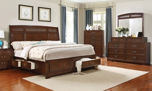 Parkhurst Reeded King Sleigh Storage Bedroom