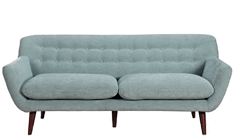 Button-Tufted Sofa in Spearmint Green | Haynes Furniture
