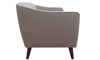 Hume Mid-Century Modern Tufted Sofa in Neutral Upholstery with Tapered Wood Legs - Side View