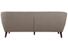 Hume Mid-Century Modern Tufted Sofa in Neutral Upholstery with Tapered Wood Legs - Back View