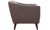 Hume Mid-Mod Tufted Accent Chair in Neutral Toned Upholstery - Side View