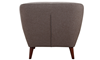 Hume Mid-Mod Tufted Accent Chair in Neutral Toned Upholstery - Back View