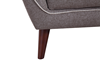 Avery Mid-Mod Tufted Accent Chair in Neutral Toned Upholstery - Tapered Leg Close-up