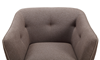 Hume Mid-Mod Tufted Accent Chair in Neutral Toned Upholstery with Tapered Wood Legs - Close-up