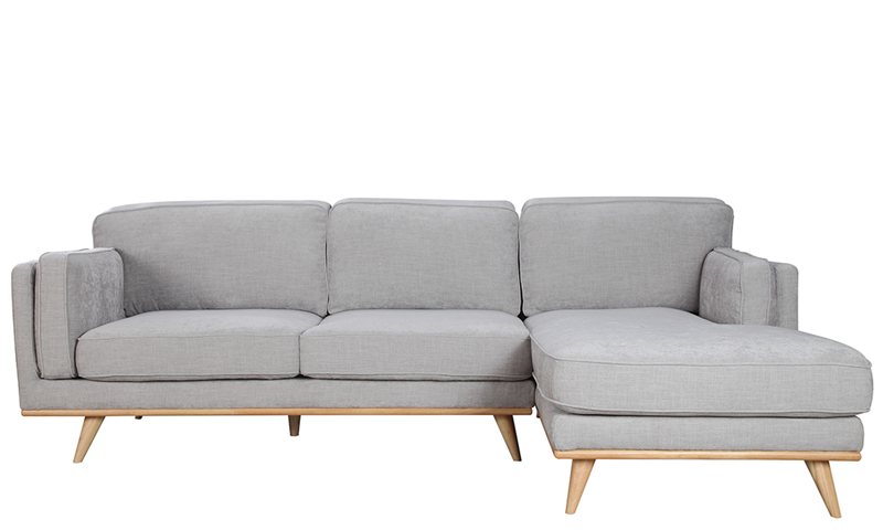 Marx Mid-Mod Chaise Sectional in Gray | Haynes Furniture