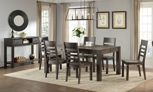 Salem 5-Piece Solid Acacia Dining Set with Storage