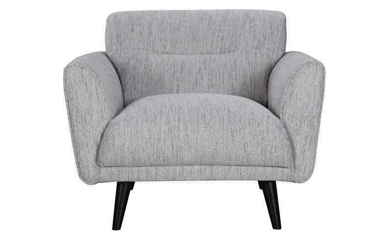 Modern Unique Accent Chairs.Locke Contemporary Flare Arm Accent Chair Haynes Furniture