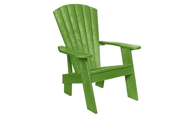 Fade Resistant Heavy Duty Adirondack Chair Made From 95 Recycled Plastic In Kiwi