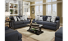 American-Made Stain Resistant Track Arm Sofa in Navy Blue Group