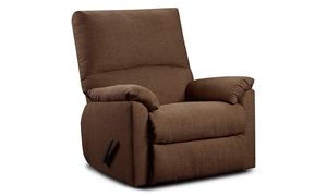 Washington Furniture Mitchell High Back Recliner with Pillowtop Arms in Chocolate Brown Upholstery