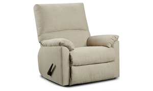 Washington Furniture Mitchell High Back Recliner with Pillowtop Arms in Sand Upholstery